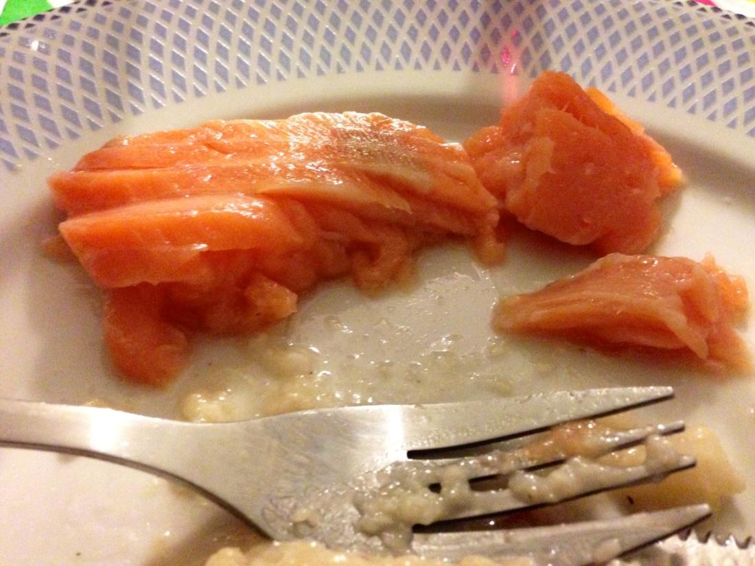 "Salmon ""mi-cuit"""